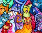 Colorful Cats 2 by jenthestrawberry