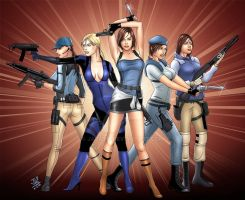 the many looks of Jill Valentine by Jaja316