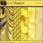 GOLD FREE PATTERN by brushpsd