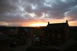 Sunset over Mawsley by Melee-pic