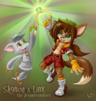 Sky and Linx - dreamtravellers by Virtual-Blue