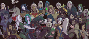 Our Wyrmrest Accord Family by CrewOfTheBloodyDawn