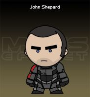 Mass Effect - John Shepard by criz