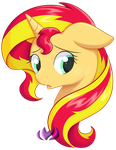 Sunset Shimmer by raininess