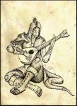 Sings-In-Shade, The Argonian Bard by ShotLiver