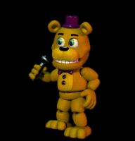FNAFWORLD Fredbear [GIF] by TheSitciXD