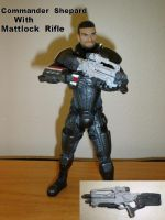 Shepard with Mattock rifle by pyramidhead22