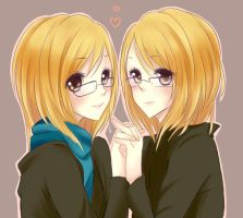 Twins for Kassylee by milaa-chan