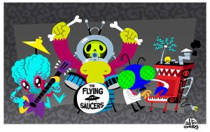 The Flying Saucers by PacoAfroMonkey