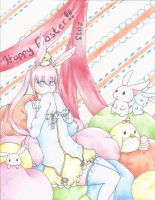 Colorful Easter by hiyorei