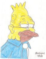 Grandpa Simpson Drawing by MarioSimpson1