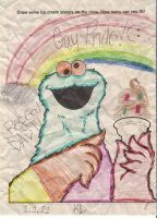 Gay Pride Cookie Monster by The1980sKunoichi