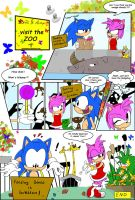 SonAmy visit the zoo... by SonicAdvance