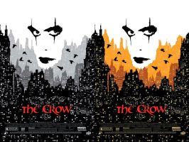 The Crow 20th Anniversary Official Movie Posters by Tonywash
