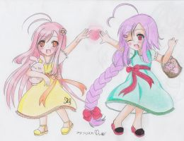 Ivi-chan and Misury-chan by H--neko