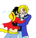 Luffy and Sabo Reunited by XfangheartX