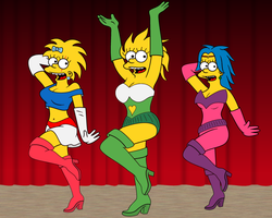 Simpsons Fantasy dance troop. by leif-j