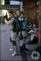 Chris Redfield and Jill Valentine re5 cosplay by Chris--Redfield