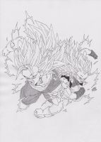 DRAGONBALL HEROES - VEGETTO AND GOTENKS SS3 by TriiGuN