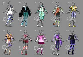 Bunch of Outfits #2 - sold by Nahemii-san