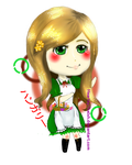 Chibi Hungary by HeartsyTheIsh