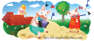 tale of the Three Little Pigs by Gabriel-Alia