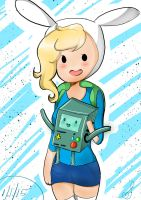 Fionna and BMO by ImAFairyFey
