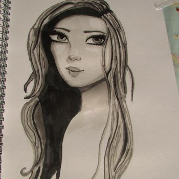 Drawing of a girl by Sophiethesofa