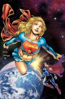 Supergirl on Superman cover 223 by battle810
