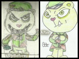 Before and after Flippy by Ctlna0199