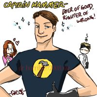 captain hammer, corporate tool by ryuuenx