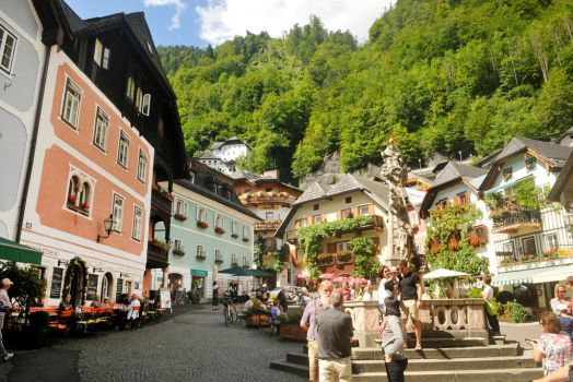 Hallstatt town square 1 - Austria by wildplaces