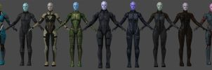 Asari Armors Pack by nach77
