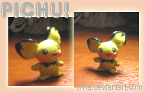 Pichu figure by littlepolka