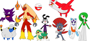 Yakko's Pokemon Team by Percyfan94