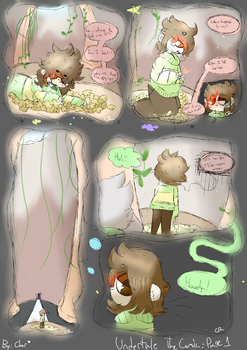 Undertale The Comic Page 1 by HeyItsCharmeleon
