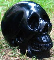 Black Obsidian Skull 001b by SKULLKRAFT