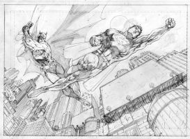 Superman Batman Book Country by jimlee00