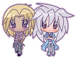 Marik and Bakura by Moki-lu