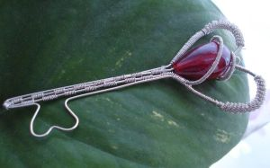 my first wire wrapped key by MariMermaid