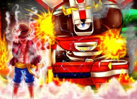 MTV Geek Otaku Battle 2012 - Luffy VS Voltron by renealexa