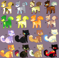Adoptables 57 by hinanamis