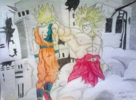 Goku vs Broly by ErikaEsther