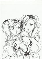 Chun li and Ling Xiaoyu by faytrobertson