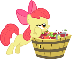 Applebloom and her Bucket by Jerick