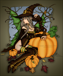 Hallows Eve Fae by blackmoonrose13