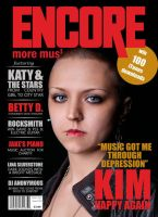 front cover - music magazine by AlaasDesigns
