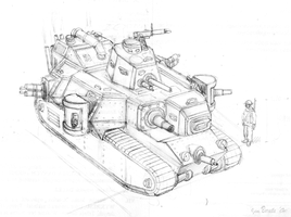 WW1 heavy tank concept 01 by JanBoruta