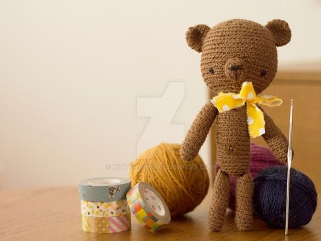 Crochet bear by kittyvane