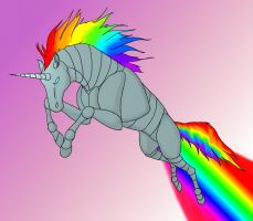Robot Unicorn Attack Color :D by VanyCat
